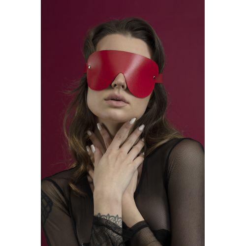 Маска закрытая на глаза Feral Feelings красная для БДСМ
