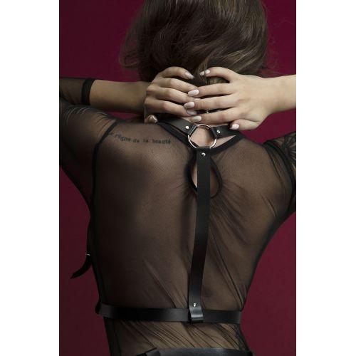Портупея для женщин Feral Feelings Harness Top черная для БДСМ