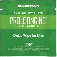 Пролонгирующая салфетка с экстрактом женьшеня Doc Johnson Delay Wipe For Men
