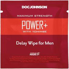 Пролонгирующая салфетка с экстрактом йохимбе Doc Johnson Power+Delay Wipe For Men