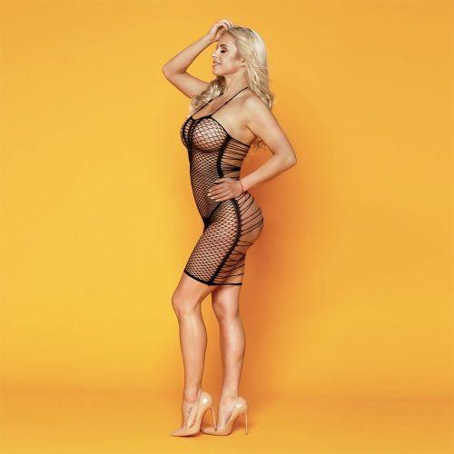 Эротическое платье-сетка с красивой спинкой Элиза