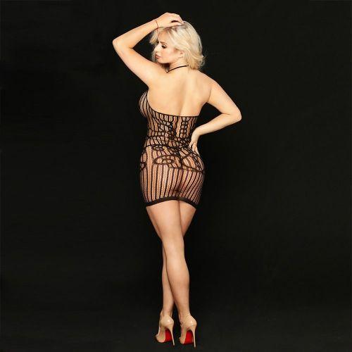 Эротическое платье-сетка с ажурным рисунком Марго