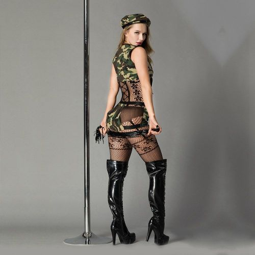 Эротический ролевой костюм-милитари Опасная Дейзи