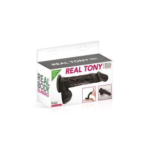 Фаллоимитатор Real Body Real Tony Black TPE