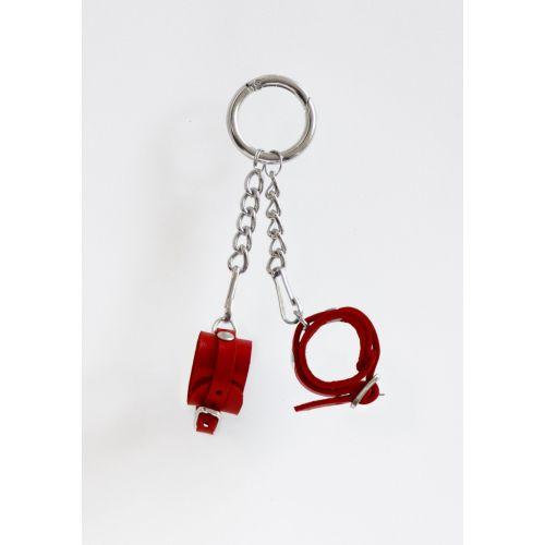 Брелок Наручники с пряжкой для БДСМ Красный