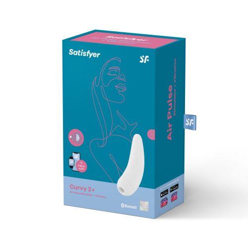Вакуумный клиторальный стимулятор смарт Satisfyer Curvy 2+ White