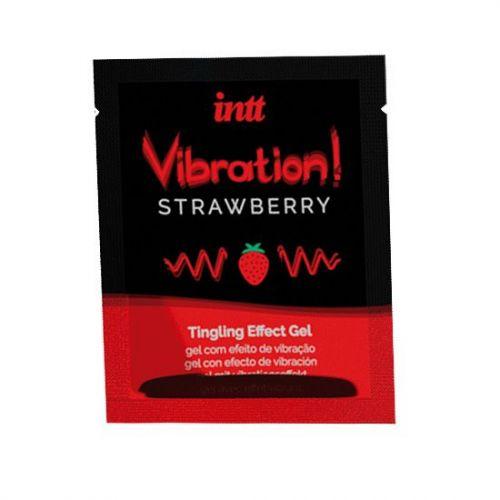 Пробник жидкого вибратора со вкусом клубники Intt Vibration