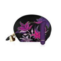 Мини вибратор для точки G фиолетовый Rianne S Mini G Floral c чехлом-косметичкой Deep Purple