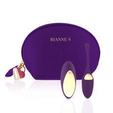 Виброяйцо с пультом Д/У и чехлом-косметичкой фиолетовое Rianne S Pulsy Playball Deep