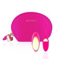 Виброяйцо с вибрирующим пультом Д/У розовый с косметичкой-чехлом Rianne S: Pulsy Playball Deep