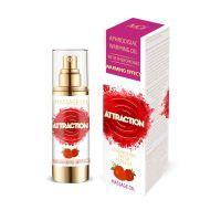 Разогревающее массажное масло с феромонами с ароматом клубники MAI PHEROMON MASSAGE OIL 75 мл
