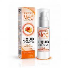 Лубрикант с эффектом вибрации Amoreane Med Liquid Vibrator Peach (30 мл)