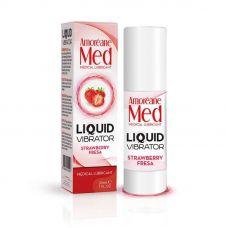 Лубрикант с эффектом вибрации Amoreane Med Liquid Vibrator Strawberry (30 мл)
