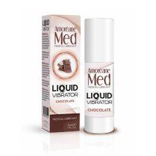 Лубрикант с эффектом вибрации Amoreane Med Liquid Vibrator Chocolate (30 мл)