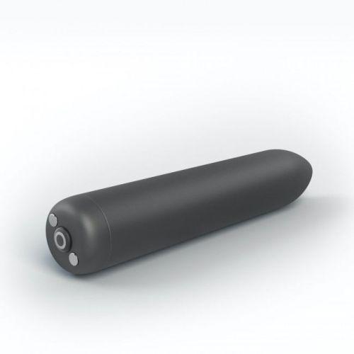 Перезаряжаемая вибропуля для клитора чёрная Dorcel Rocket Bullet
