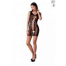 Откровенное платье-сетка чёрное Passion BS073