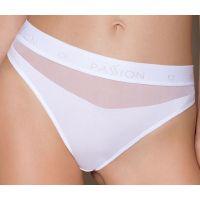 Трусики с прозрачной вставкой белые Passion PS006 PANTIES size L
