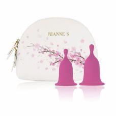 Менструальные чаши 2 шт размер S и М розовые RIANNE Femcare Cherry Cup