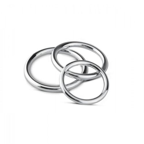 Набор эрекционных колец для фиксации пениса Sinner Gear Unbendable Cock/Ball Ring & Glans Ring Set