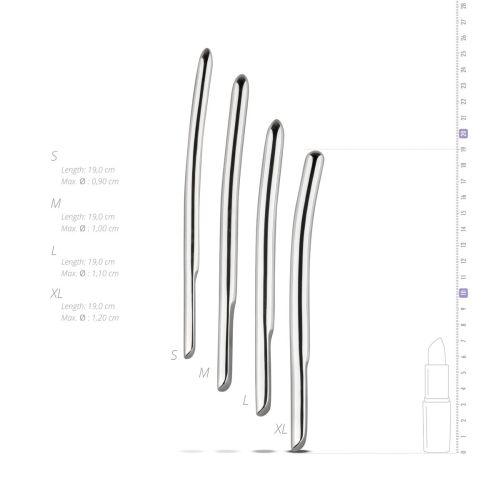 Набор уретральных стимуляторов Sinner Gear Unbendable Single Ended 4 шт, диаметры 9,10,11,12 мм