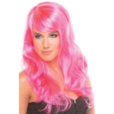 Парик эротический длинные розовые для ролевых игр Be Wicked Wigs Burlesque Wig