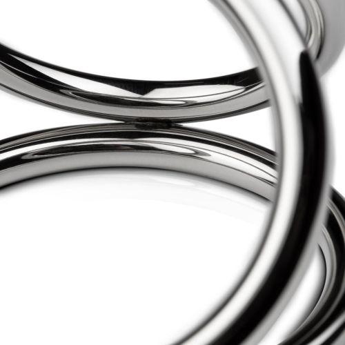Тройное эрекционное кольцо для фиксации члена и мошонки Sinner Gear Unbendable Large