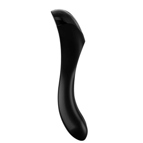 Вибратор на палец Satisfyer (Сатисфаер) черный Candy Cane