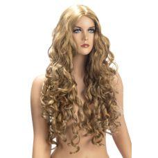 Парик эротический длинные кучерявые блонд для ролевых игр World Wigs ANGELE