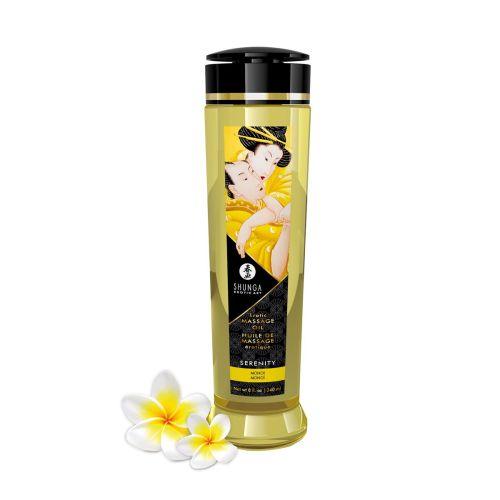 Массажное масло из 100% натуральных компонентов c ароматом масла Моной Shunga Serenity 240 мл