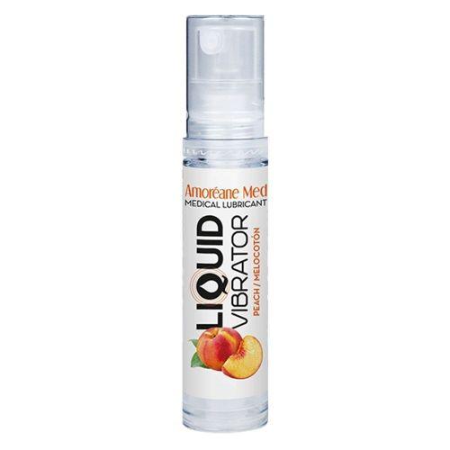 Лубрикант с эффектом вибрации Amoreane Med Liquid Vibrator Peach (10 мл)