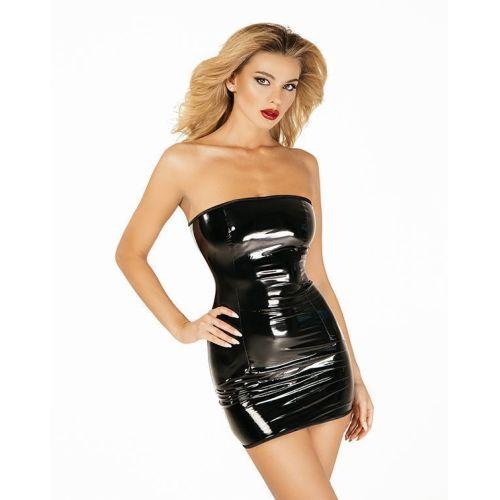 """Платье лакированное черное """"Соблазнительница Марго"""" XXL, молния на всю длину сзади"""