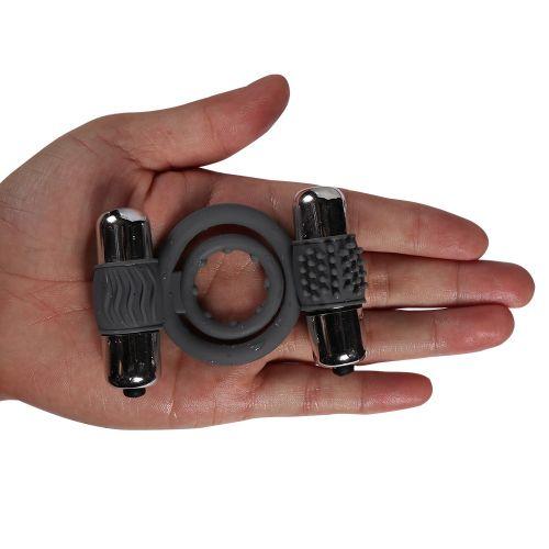 Эрекционное кольцо Double bullet cock ring