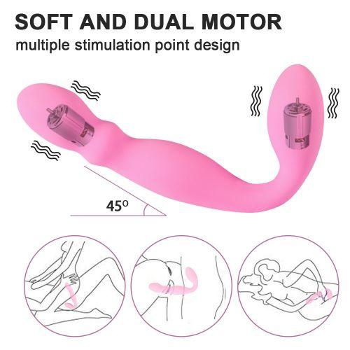 Вибратор для двойной стимуляции розового цвета Baron Love Rider