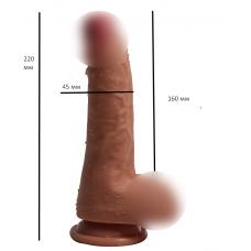 Реалистичный фаллоимитатор на присоске Ercules `s penis