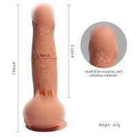 Фаллоимитатор 13 см/3,6 см реалистичный гибкий с яичками на присоске Azazel realistic dildo виниловый