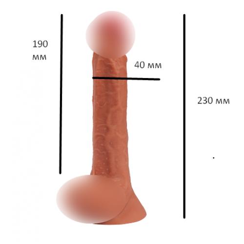 Реалистичный фаллоимитатор на присоске Logan penis