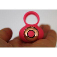 Вибратор для клитора силиконовый с отростками на палец SWEET TOYS ярко-розовый L 8 см D 3,3 см