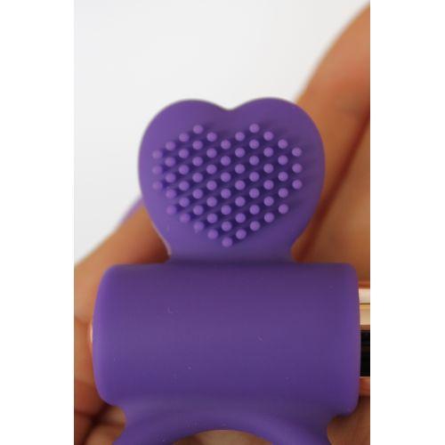 Кольцо эрекционное со съемной вибропулей и стимуляцией клитора SWEET TOYS D 3 см фиолетовое