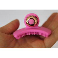 Вибратор силиконовый для клитора с шипиками SWEET TOYS розовый L 7,5 см ширина 5,6 см со съемной вибропулей
