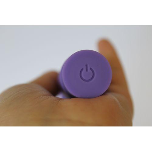Вибратор вагинальный силиконовый для точки G SWEET TOYS фиолетовый L 11,5 см D 3,3 см