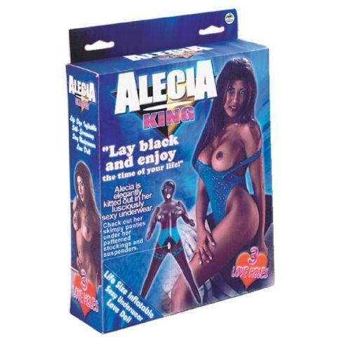 Секс кукла надувная Alecia King PVC screening black Doll