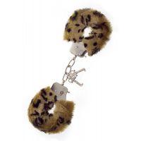 Наручники меховые леопардовые Metal Handcuff with Plush