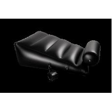 Подушка для секса с 2 съемными манжетами чёрная DARK MAGIC RAMP WEDGE INFLATABLE CUSHION