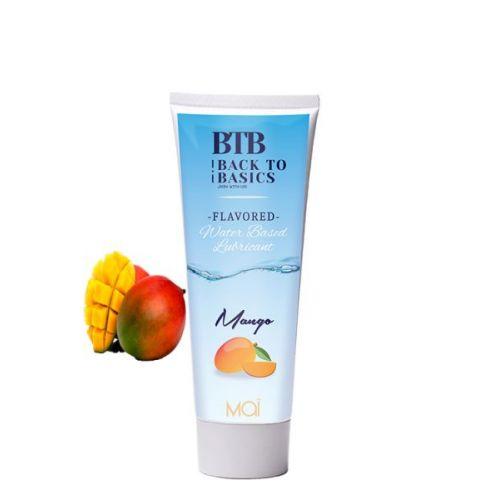 Лубрикант с ароматом манго BTB WATERBASED MANGO 75ML