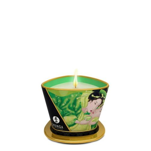 Свеча для массажа с ароматом зеленого чая MASSAGE CANDLE 170 мл