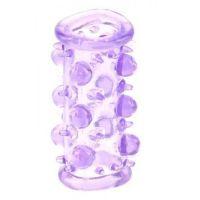 Насадка на пенис с усиками и шариками фиолетовая Lust Cluster