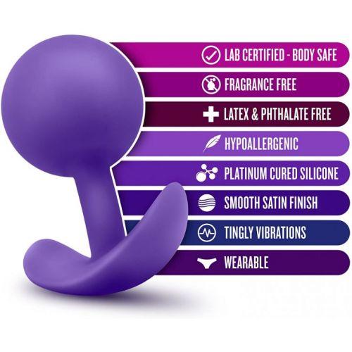Анальныйплаг с вибрациейсосмещеннымцентромтяжести фиолетовыйLUXEWEARABLEVIBRA