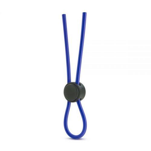 Регулируемое эрекционное лассо для пениса синие силиконовое Blush
