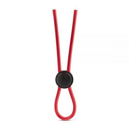 Регулируемое эрекционное лассо для пениса красное силиконовое Blush
