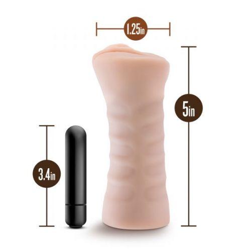 Мастурбатор-вагина с вибрацией для члена M FOR MEN RAIN VANILLA